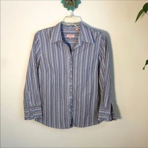 Ted Baker striped button down top blue medium 3